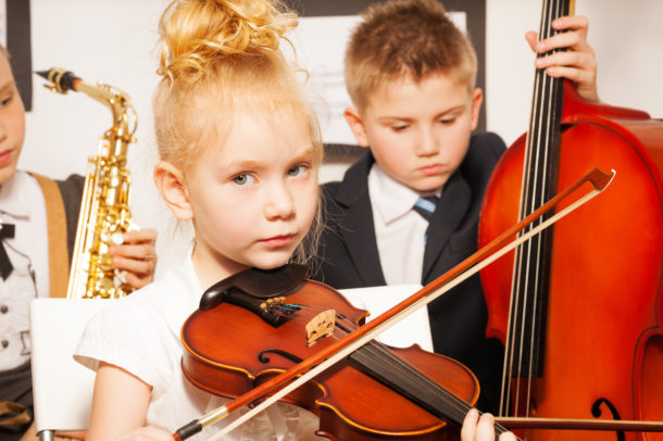 Violin, Cello Students playing music