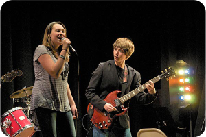 Rock Band students performing live in Madison, NJ.